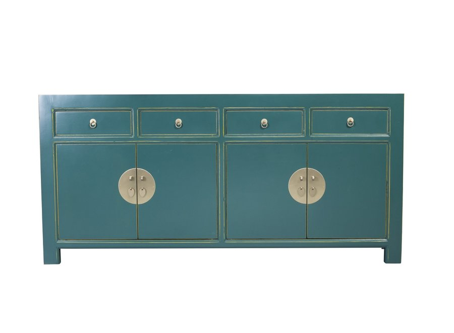 Fine Asianliving Chinese Sideboard Teal Blue W180xD40xH85cm