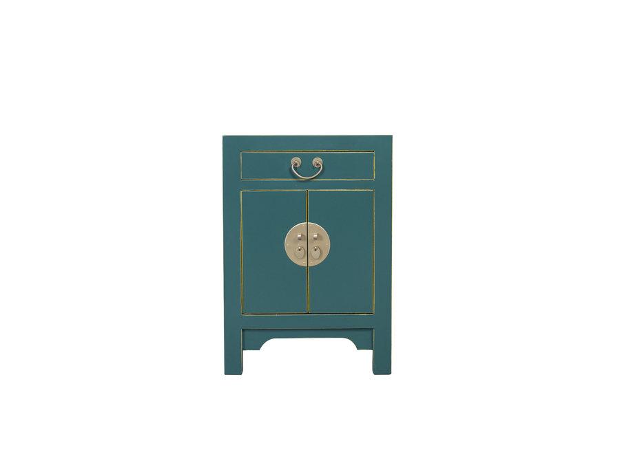 Chinesischer Nachttisch Nachtschrank Teal Blau B60xT40xH60cm
