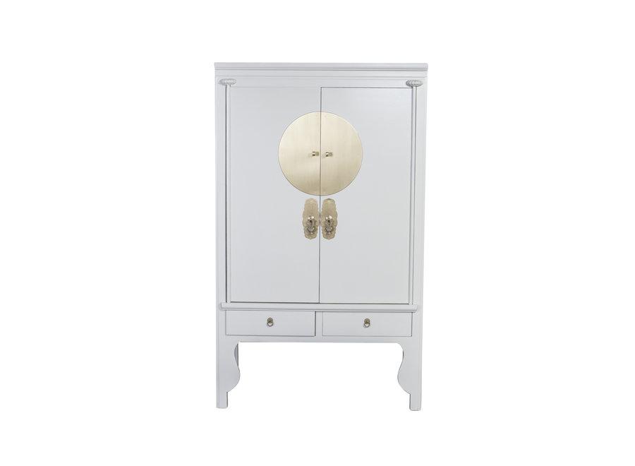 Fine Asianliving Chinesischer Hochzeitsschrank Moonshine Greige - Orientique Collection B100xT55xH175cm