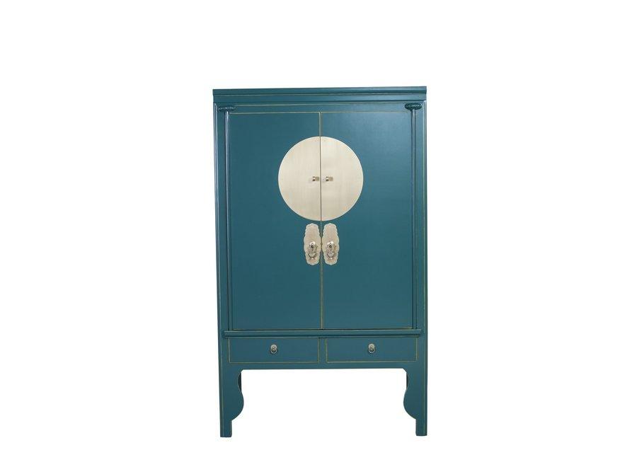 Chinesischer Hochzeitsschrank Teal Blue - Orientique Collection B100xT55xH175cm