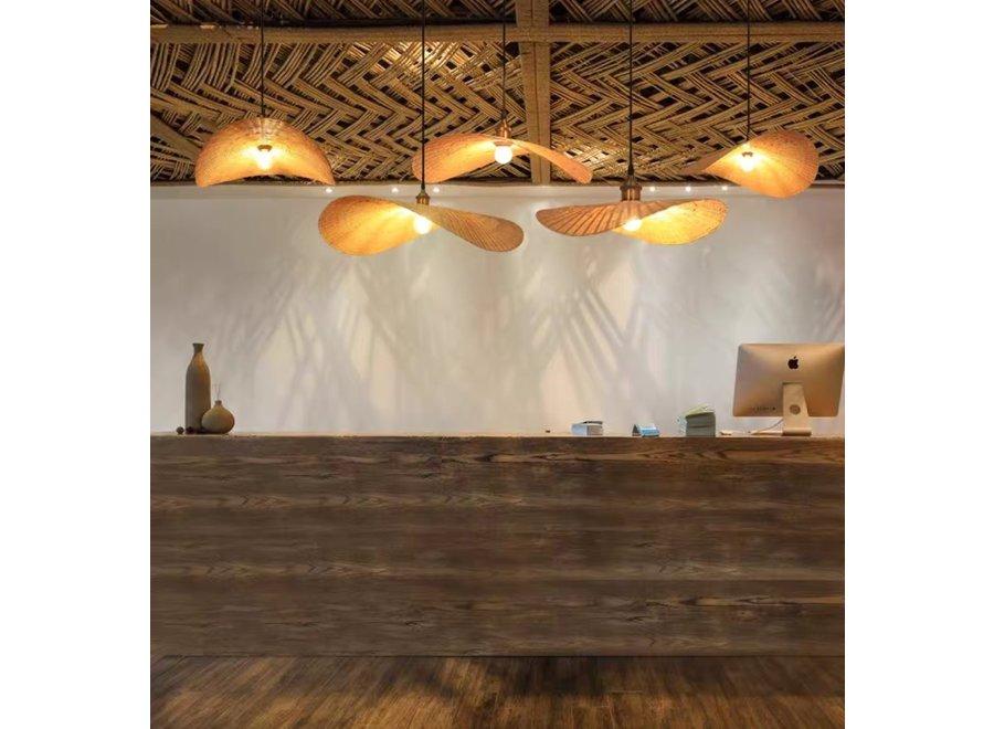 Hängelampe Bambus Handgefertigt - Harlette - B60xT55xH8cm