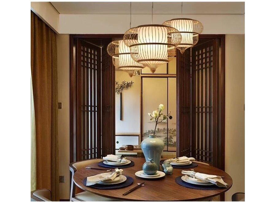 Deckenleuchte Bambus Lampe Handgefertigt - Adeline