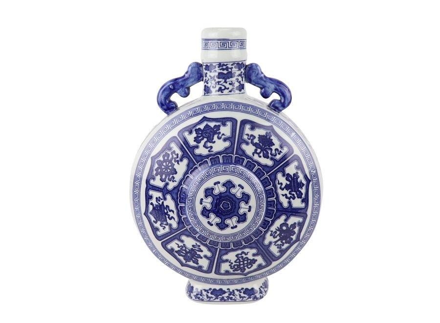 Chinesische Vase Blau Weiß Porzellan D22xH35cm