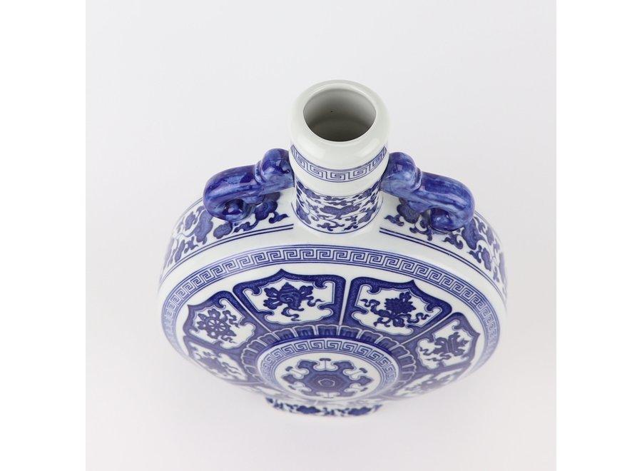 Chinese Vase Blue White Porcelain D22xH35cm