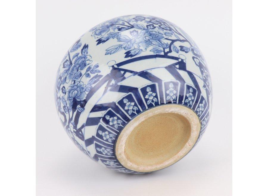 Chinese Vase Blue White Porcelain D23xH20cm