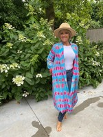 Love Kimono in het blauw