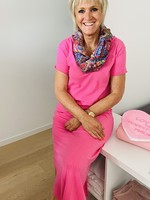 Love Lange jurk in het roze