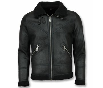 Warren Webber Lammy Coat Heren - Fake Fur jas - Zwart