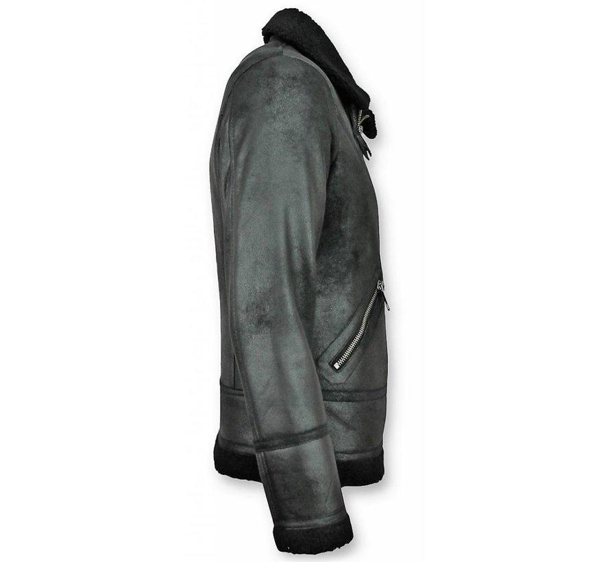 Lammy Coat Heren - Fake Fur jas - Zwart