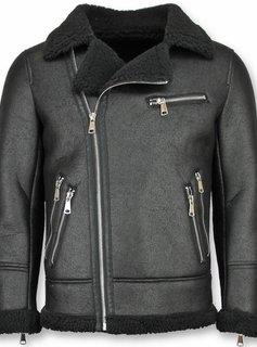 Frilivin Lammy Coat Zwart - Fake Fur jas - Zwart