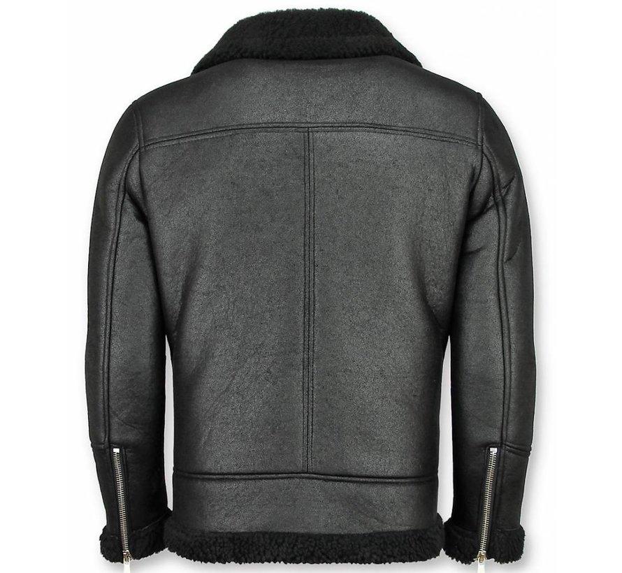 Lammy Coat Zwart - Fake Fur jas - Zwart