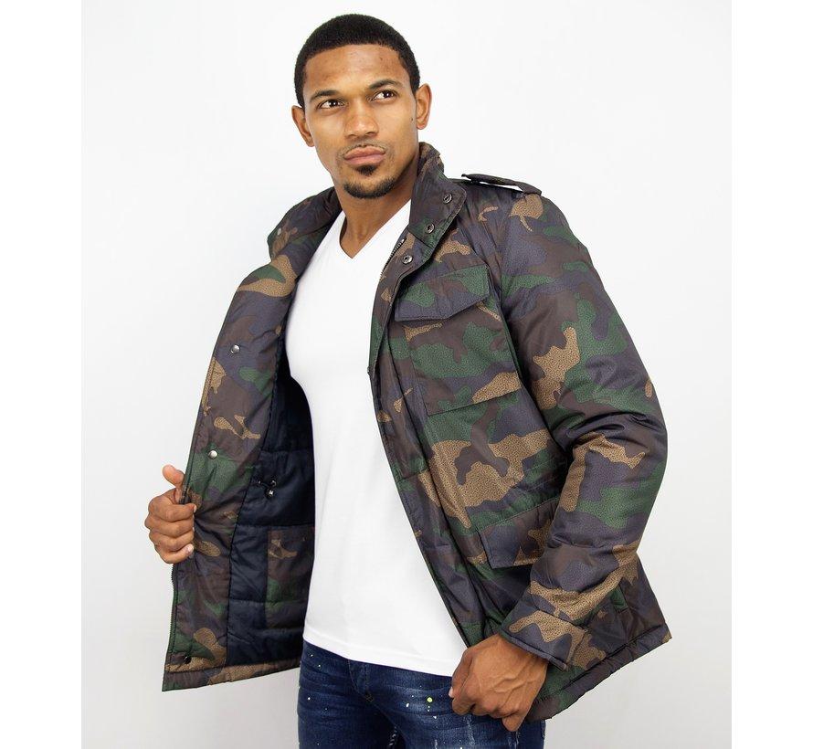 Heren Winterjas - Camouflage Jack - Groen