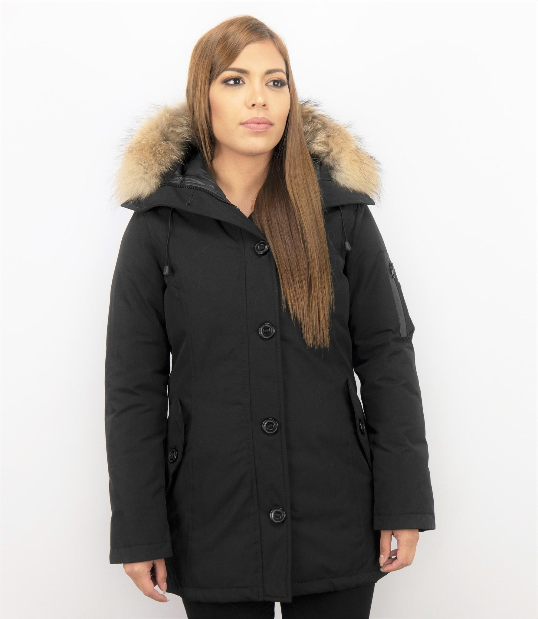 goedkope jassen met bontkraag dames