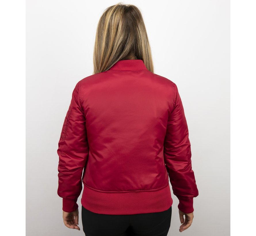 Rode Bomberjack Dames  - Classic
