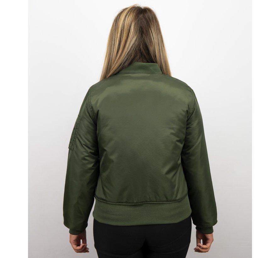 Groene Bomberjack Dames  - Classic