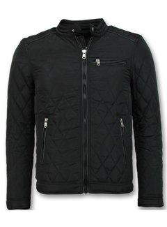Enos Slim Fit Jack - Heren jas kort model - Zwart