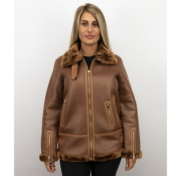 Z-design Lammy Coat Dames Winterjas – Bruin