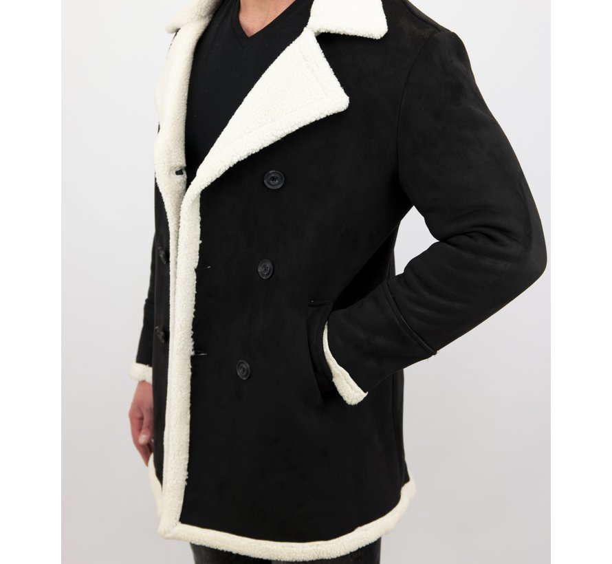 Lammy Coat jas heren - Bontjas Parka - Zwart