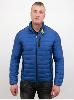 Enos Heren Korte Slim Fit Jas - Blauw