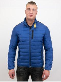 Enos Heren Korte Slim Fit Jas - Blauw