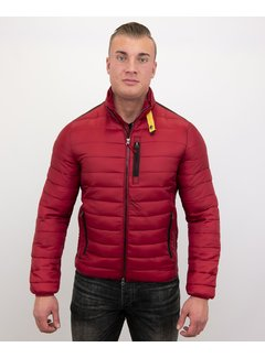 Enos Slim Fit Heren Korte Jas - Rood