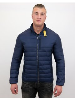 Enos Heren Slim Fit Korte Jas - Navy