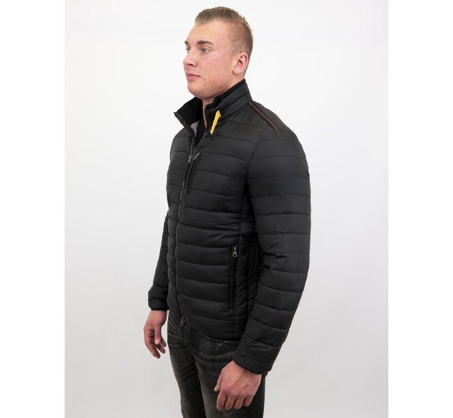 Here Korte Jas Slim Fit - Zwart