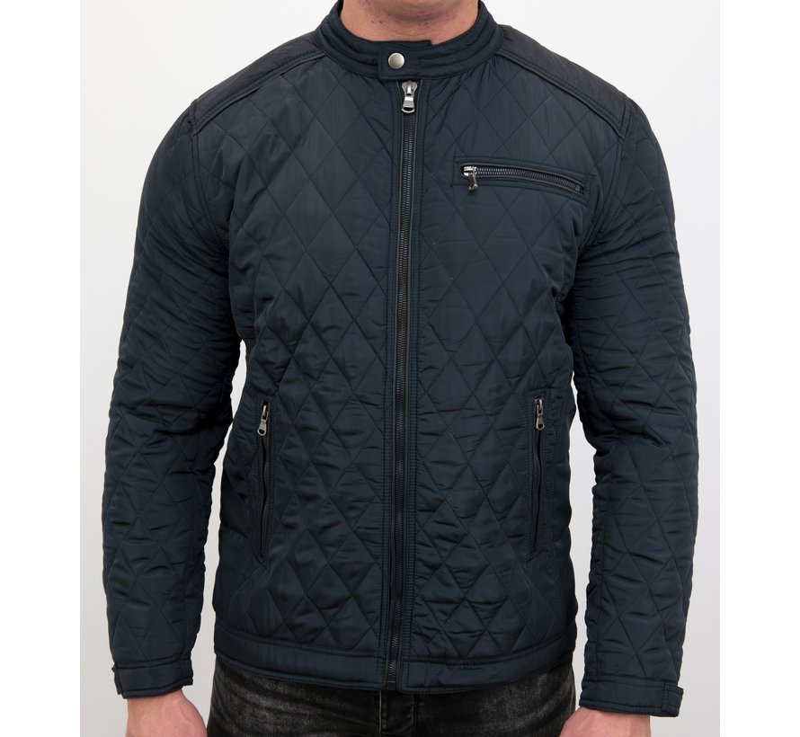 Slim Fit Jack - Heren jas kort model - Blauw