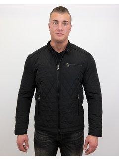 Enos Slim Fit Jack - Heren jas kort model - Zwart