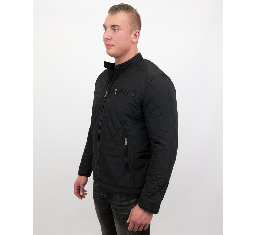 Slim Fit Jack - Heren jas kort model - Zwart