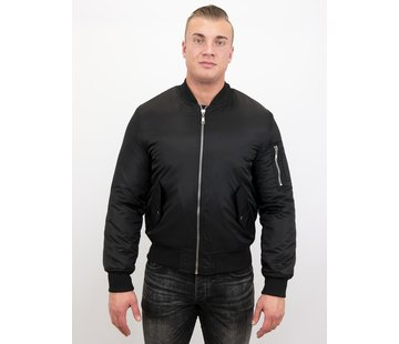Beluomo BomberJack Heren - Bomber Jas Basic - Zwart