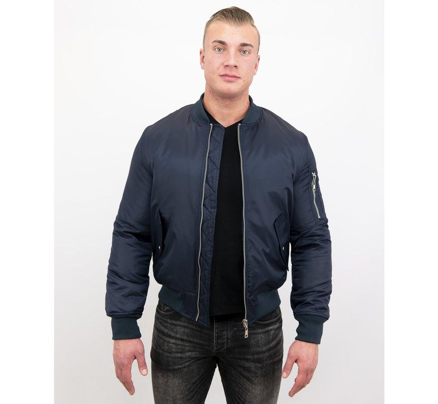 BomberJack Heren - Bomber Jas Basic - Blauw