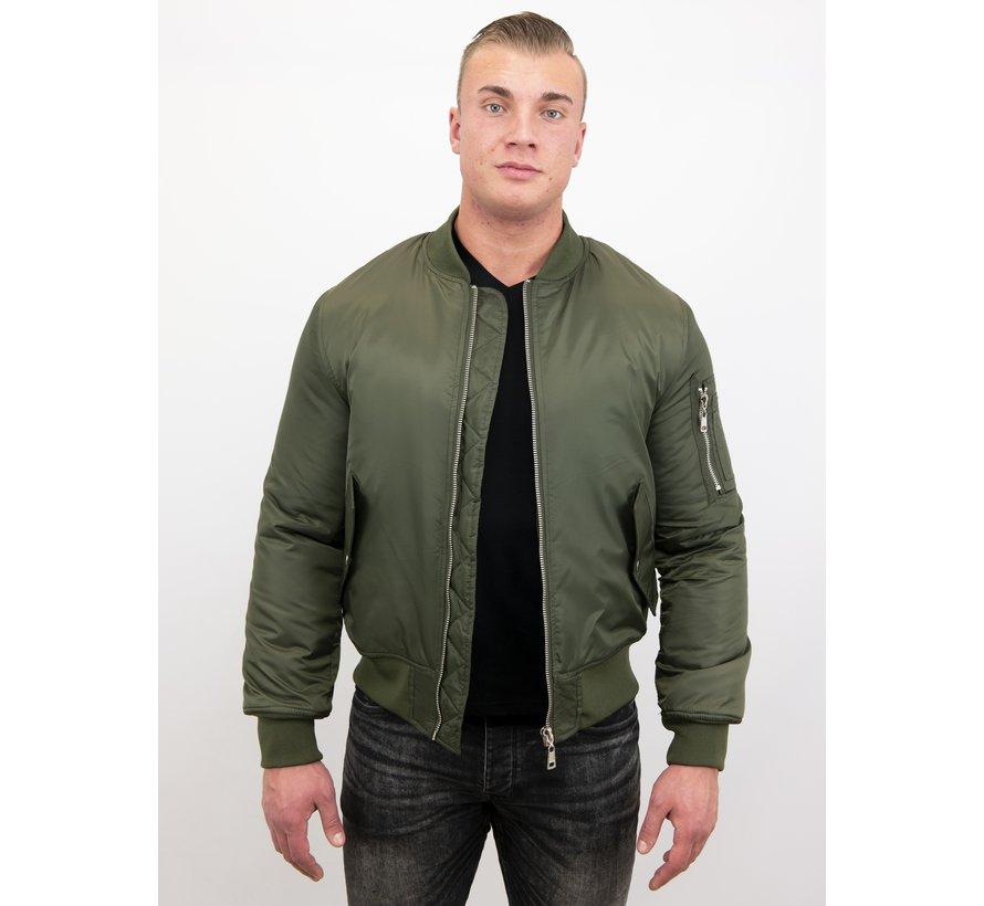 BomberJack Heren - Bomber Jas Basic - Khaki