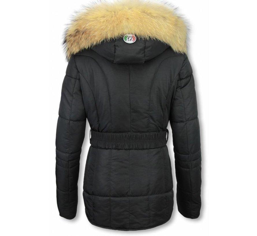 Dames Winterjas Kort - Sorento Edition - Zwart