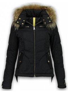 Milan Ferronetti Dames Winterjas Kort - Basic Fit Exclusive - Zwart