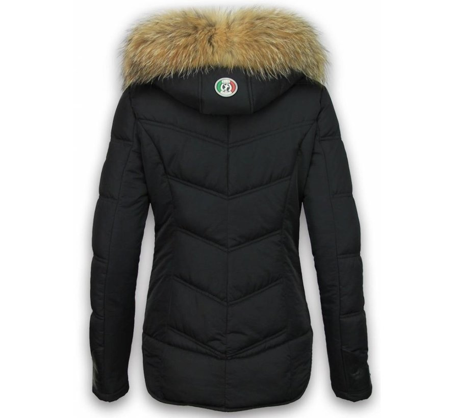 Dames Winterjas Kort - Basic Fit Exclusive - Zwart