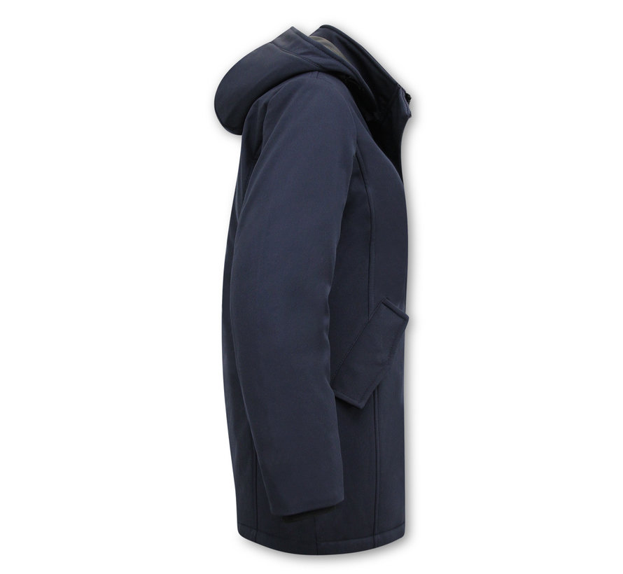 Parka Dames Winterjas - Slim Fit - Blauw