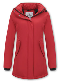 Matogla Parka Dames Winterjas - Slim Fit - Rood