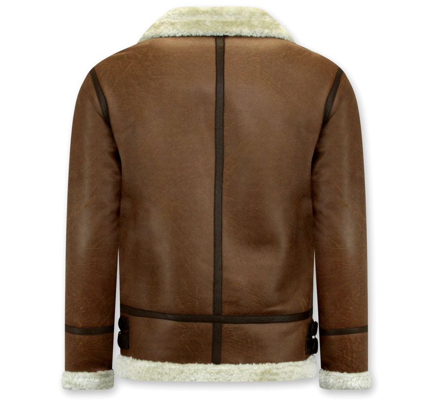 Shearling jacket - Lammy Coat - Bruin
