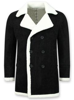 Frilivin Lammy Coat jas heren - Bontjas Parka - Zwart