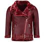Korte Lammy Coat Dames Winterjas - Bordeaux