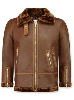 Z-design Lammy Coat Dames Winterjas – Bruin