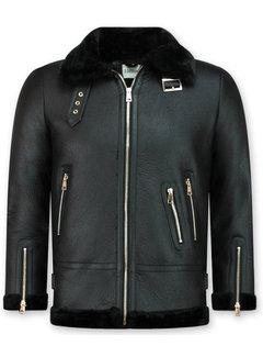 Z-design Zwarte  Dames Lammy Coat winterjas