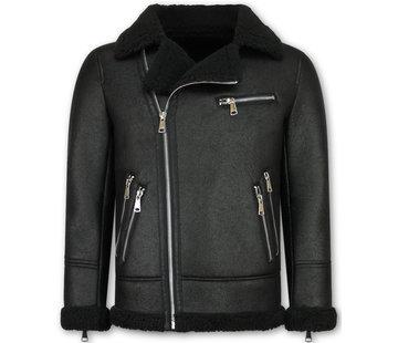 Frilivin Imitatie Lammy Coat Heren Winterjas - Zwart
