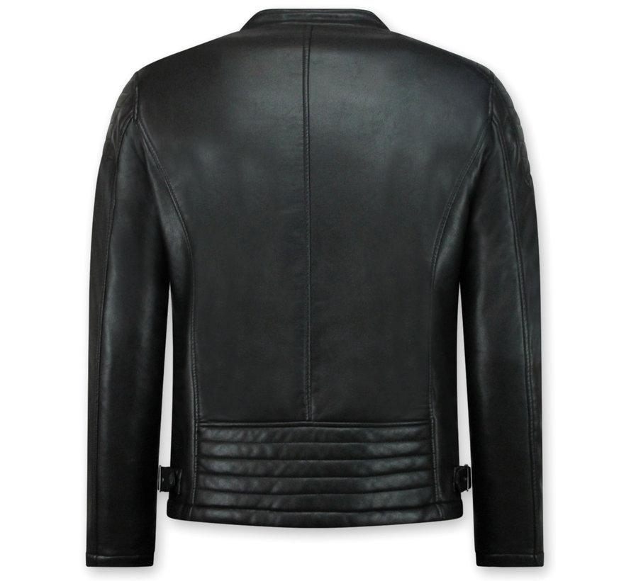 Biker Jack - Imitatie leren jas heren - Zwart