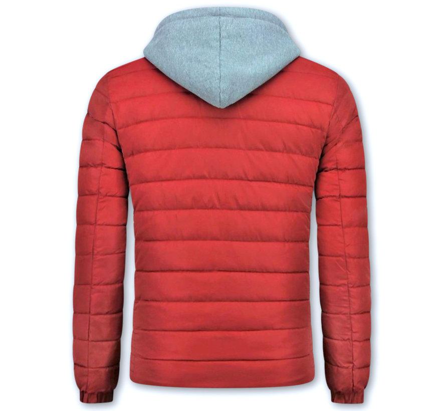 Rode Winterjas Mannen met Capuchon