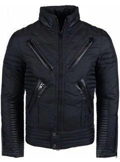 Next Style Heren Winterjas Kort - Motor Jack - Duck Down - Zwart