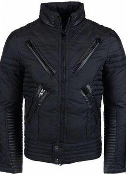 Next Style Winterjassen - Heren Winterjas Kort - Motor Jack - Duck Down - Zwart