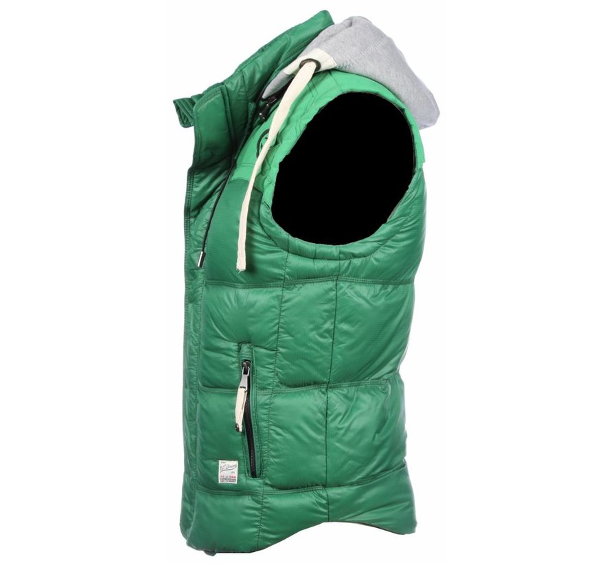 Bodywarmer Groen met capuchon