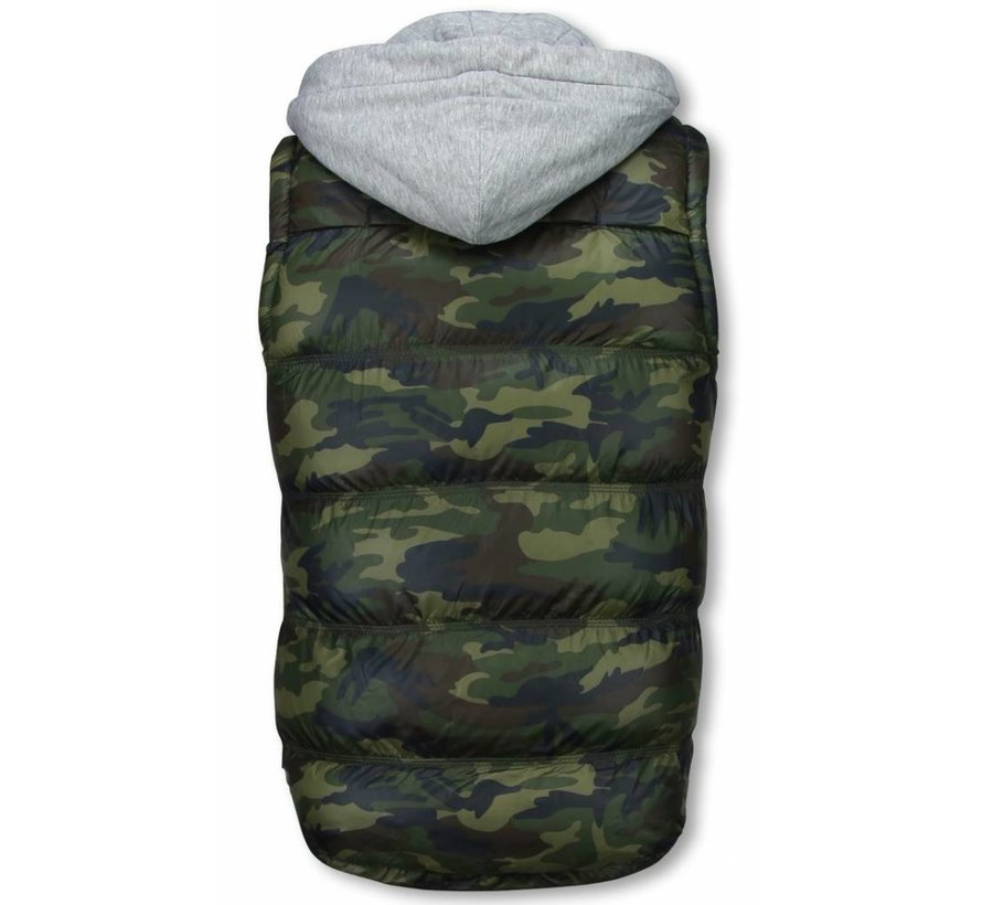 Bodywarmer Heren - Camouflage Vest Capuchon